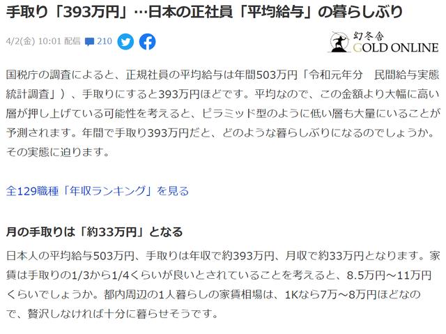 日本人の給料1