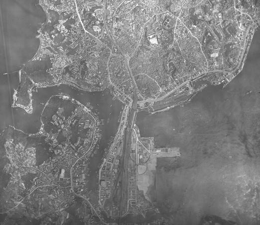 上空写真 下関 1947年