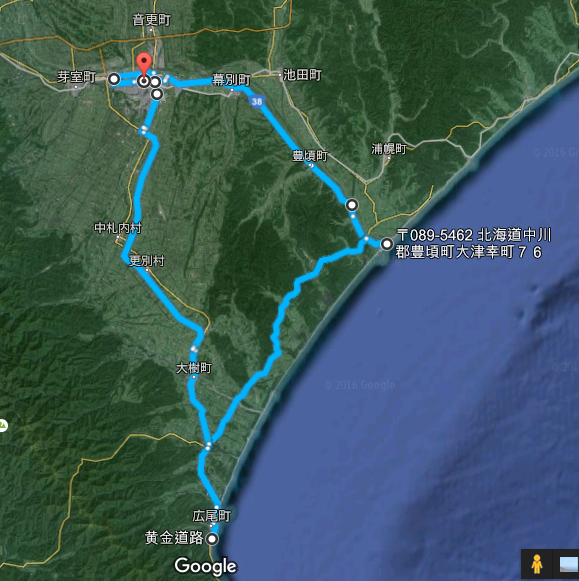 220km 移動