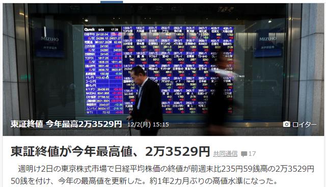 株価最高潮1