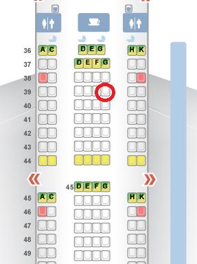 座席 3 JNB-HKG