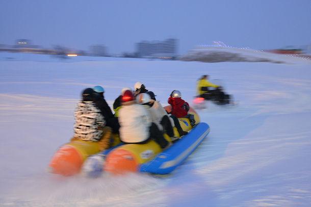 雪上バナナボート (4)