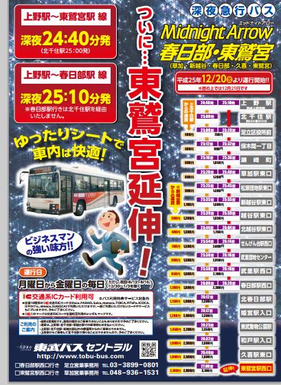 上野駅発バス