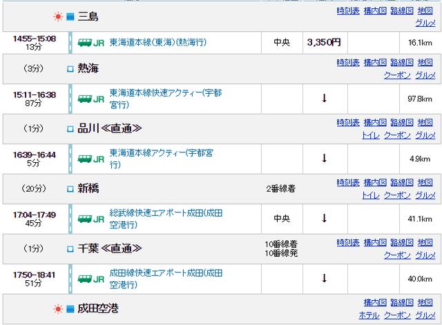 1三島→成田