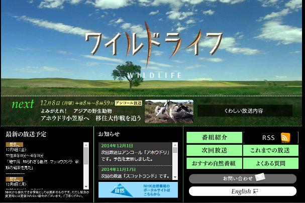 NHKBSプレミアム ワイルドライフ