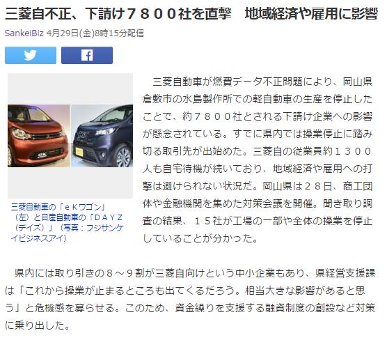 今日のボヤキ4 三菱自動車