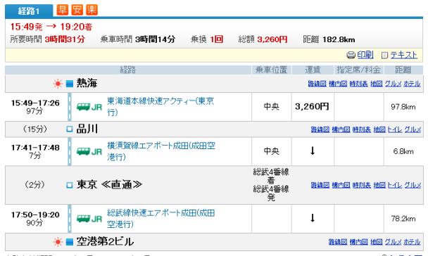 浜松→熱海→成田