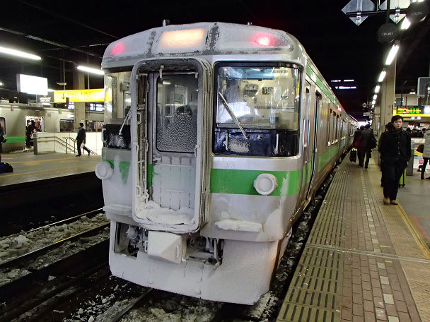 13 (0)電車 雪先頭