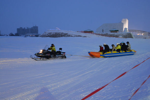 雪上バナナボート (2)