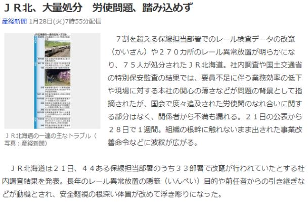 今日のボヤキ JR北海道