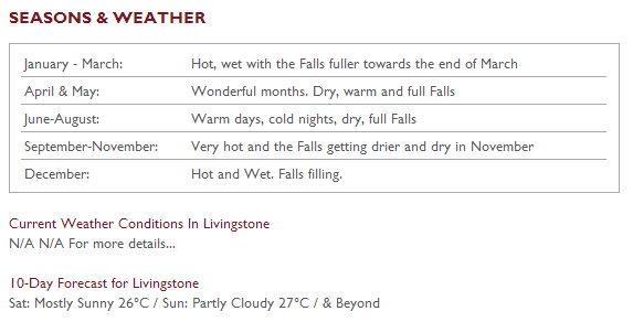 ●Chanter lodge Weather conditions& best seasons
