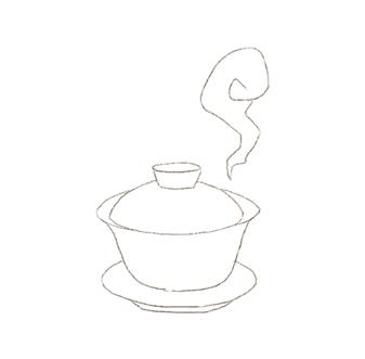 蓋碗で蒸らす