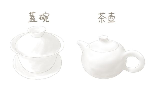 蓋碗と茶壺