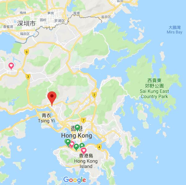 荃湾の場所