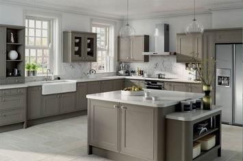 retro  kuhinja sa sivim elementima
