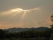 慰霊盆夕陽