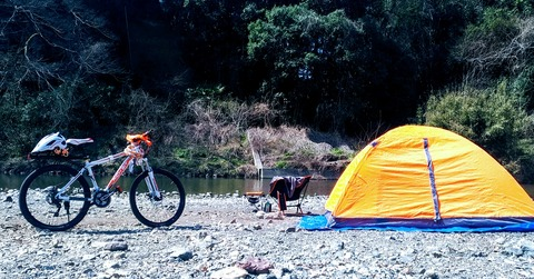 【キャンプ】MTBにキャンプ道具を積んで。。その1