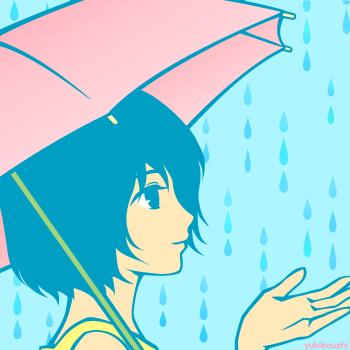ア-雨と傘と少女70