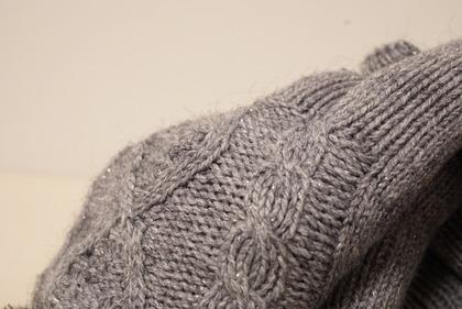 あかのれんグレーラメ手袋 (10)
