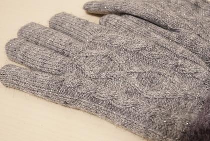 あかのれんグレーラメ手袋 (5)