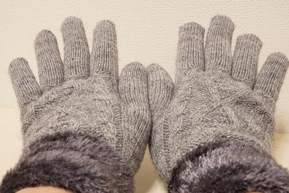 あかのれんグレーラメ手袋 (8)