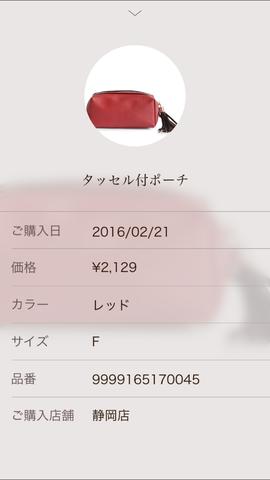ナノユニバース 赤いポーチ (1)