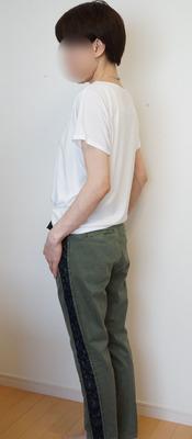 ユニクロ ドレープクルーTシャツ (5)-R