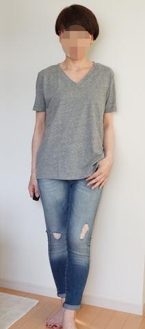 GU VネックYシャツ_グレー (5)
