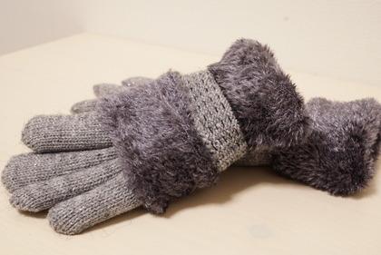 あかのれんグレーラメ手袋 (7)
