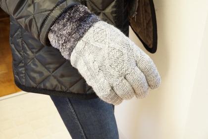 あかのれんグレーラメ手袋 (19)