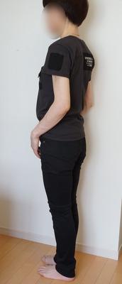 しまむら 素肌涼やかパンツ黒 (4)-R