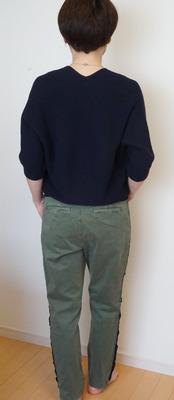 ユニクロ コクーン7部袖ニット (10)-R