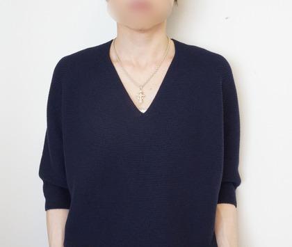 ユニクロ コクーン7部袖ニット (4)-R