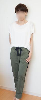 ユニクロ ドレープクルーTシャツ (3)-R