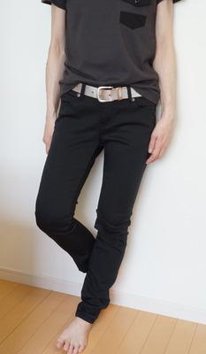 しまむら 素肌涼やかパンツ黒 (12)-R
