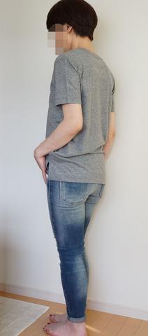 GU VネックYシャツ_グレー (7)