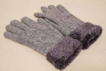 あかのれんグレーラメ手袋 (4)