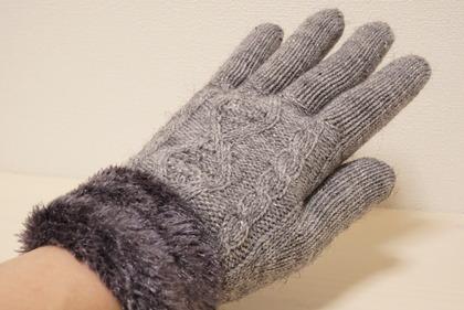あかのれんグレーラメ手袋 (9)