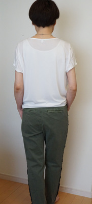 ユニクロ ドレープクルーTシャツ (6)-R