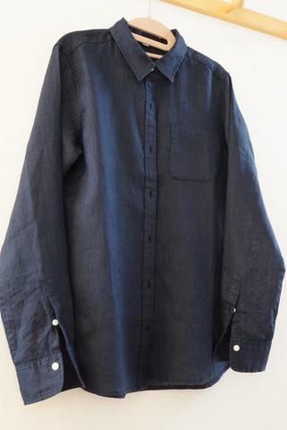 MUJIリネンシャツ (1)