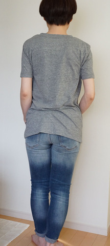 GU VネックYシャツ_グレー (9)