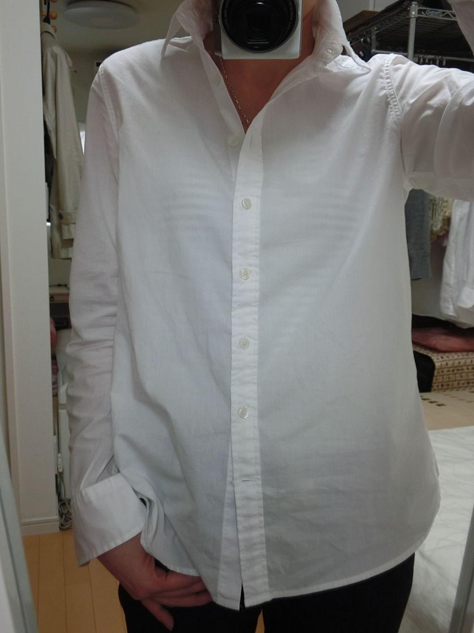 無印:オーガニックコットンブロード洗いざらしシャツ