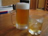 ビールと梅酒