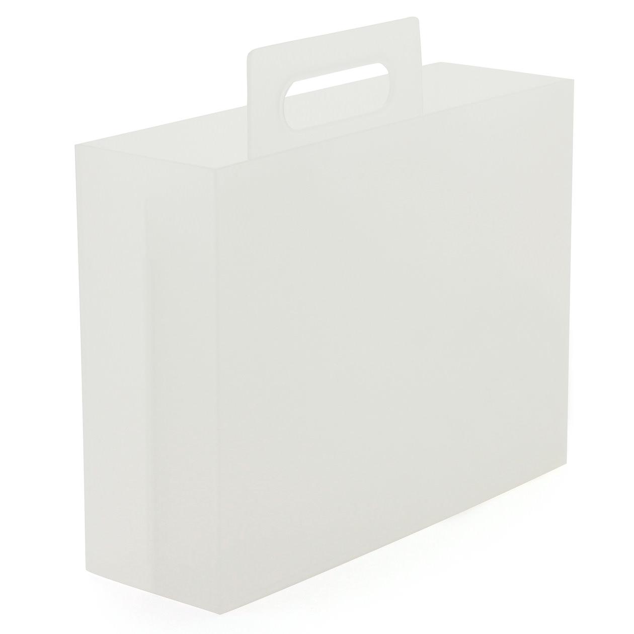 ポリプロピレンメイクボックス・1/2横ハーフ 37495586 無印良品