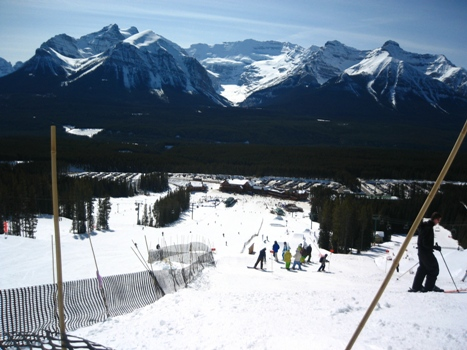 Lake Louise terrain park. gorgeous view