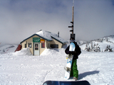top of the world warming hut, Elev. 2081m