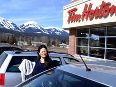 break at Tim Horton in Kicking horse