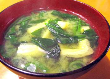 お味噌汁ホウレンソウ2015.11.22