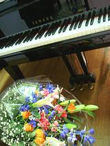 ピアノ花束