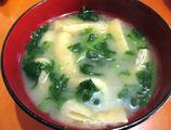 間引き菜味噌汁